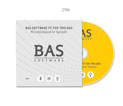 296 - BAS.SOFTWARE PC FOR TRIO.BAS™ MICROBIAL AIR SAMPLERS